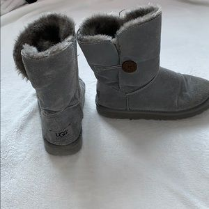 Gray Bailey button UGG boots
